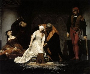 The Execution of Lady Jane Grey by Paul Delaroche (1833)