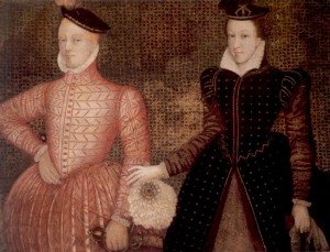 Mary Stuart and Lord Darnley c.1565, from Hardwick Hall
