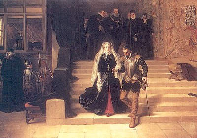 Mary, Queen of Scots, being led to her execution by Laslett John Pott (1871)