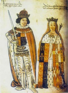 Richard III and Anne Neville, taken from the Salisbury Roll