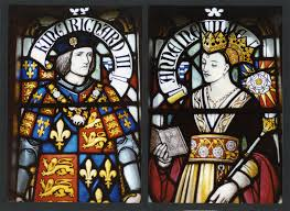 Richard III and Anne Neville, stained glass window from Cardiff Castle