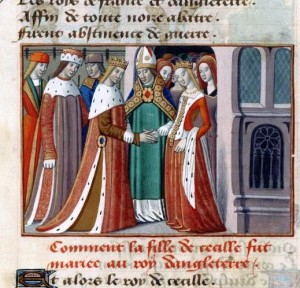The marriage of Henry VI and Margaret of Anjou from Vigilles de Charles VII